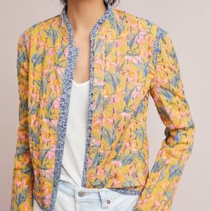 NWOT ANTHROPOLOGIE WAVERLY QUILTED JACKET, sz S